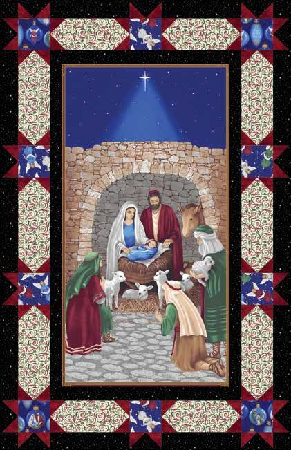 Silent Night Quilt KIT - Blank Quilting