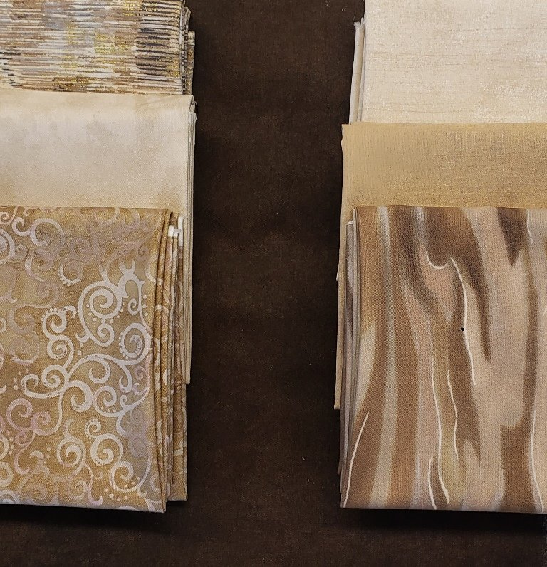 Spider-Villa Rosa - QUILT KIT - Creams/Browns - 66 x 86