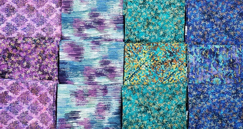 Spider-Villa Rosa - QUILT KIT - Blue/Purple/Turq. - 66 x 86