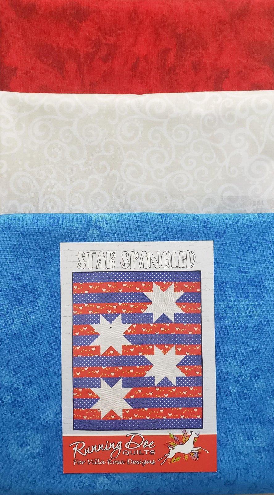 Star Spangled Quilt KIT - Villa Rosa - Patriotic - 56 x 76