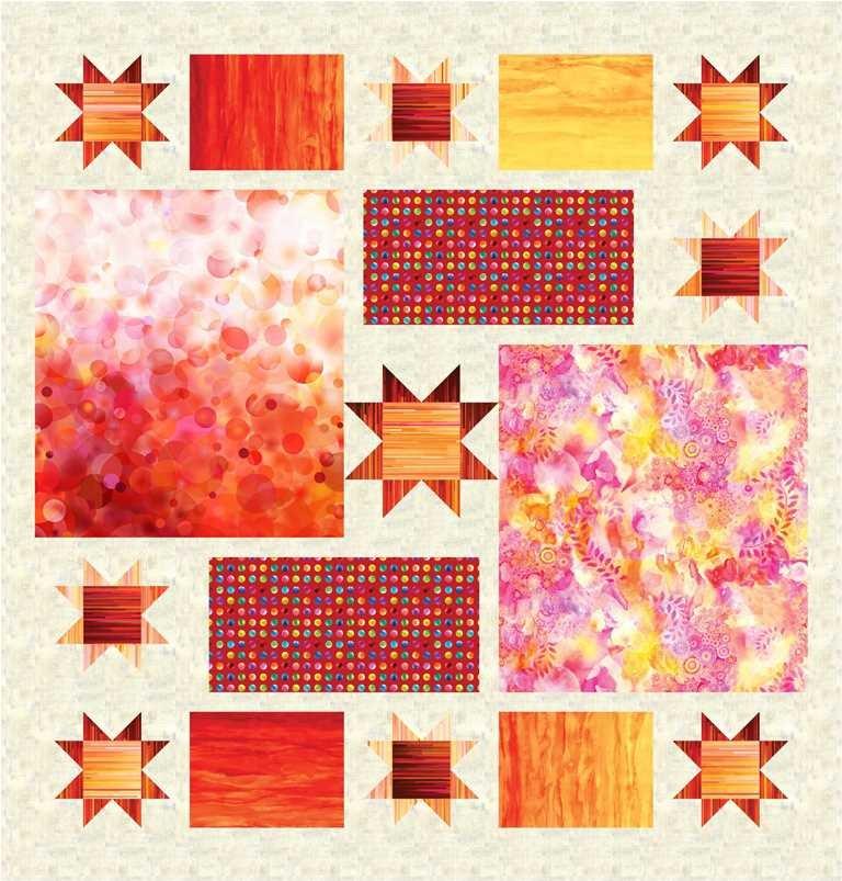 Gradient II Quilt KIT/STARRY/Sunrise 2 - Daydreams II - 87 X 91