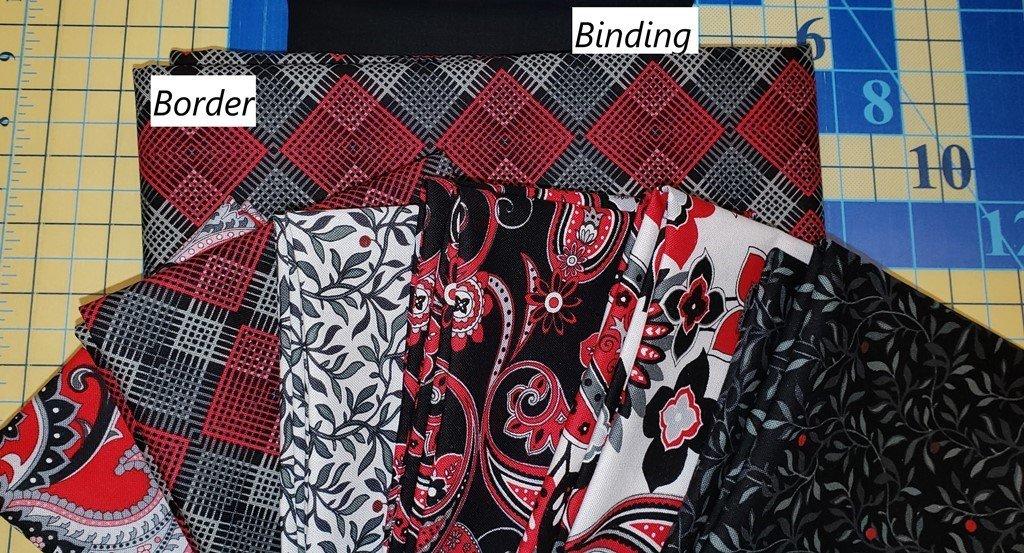 Black-White & Red Hot Quilt KIT - Sunsprite/Villa Rosa - 46 x 55