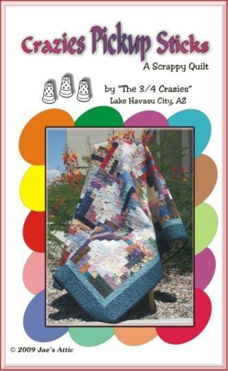 Crazies Pickup Sticks-A Scrappy Quilt - Jae's Attic - SW-02