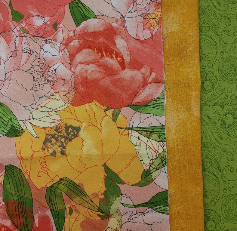 Blushing Peonies TABLE RUNNER KIT - The Big Easy - Table Runner KIT - 13 x 40