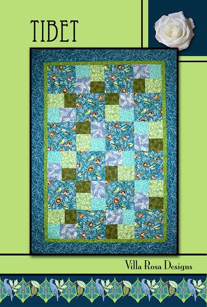 Tibet - Villa RosaQuilt KIT-QT Illusions/Grunge  - 64 x 88/with borders