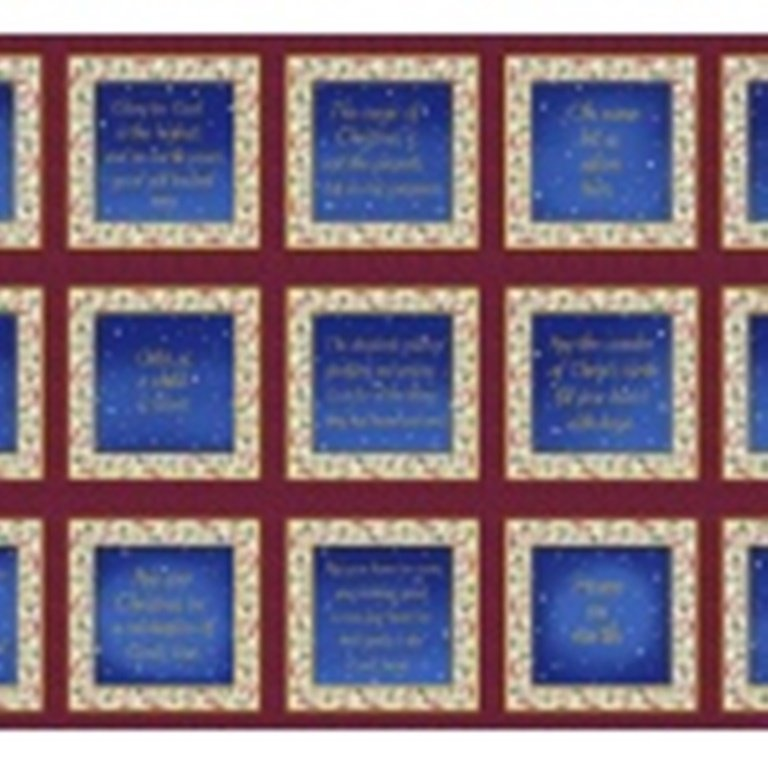 Blank Quilting - Silent Night-Panel-Words/Blue - 8542P-077 - (C-22)