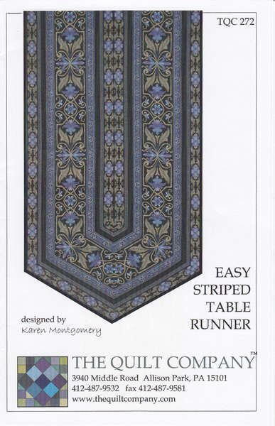 Easy Striped Table Runner-The Quilt Company - TQC 272