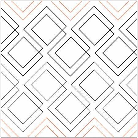 Paper Pantograph-Diagonal Plaid - Quilting Creations - UER-1188