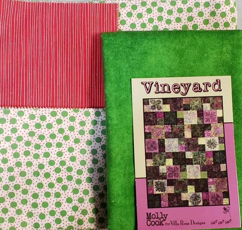 Vineyard - Villa Rosa QUILT KIT - FLANNEL - 54 x 72