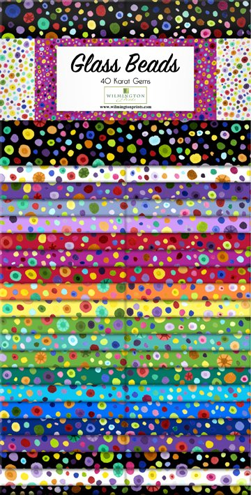 Wilmington - Glass Beads - 5 Karat Gems 5 Squares - 507-78-507
