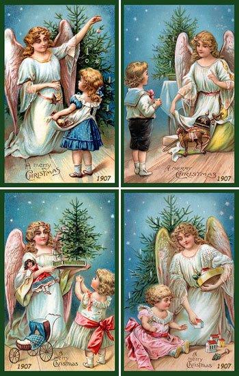 Christmas Angels Set 1 - American Quilt Blocks - AQB-AN-0001