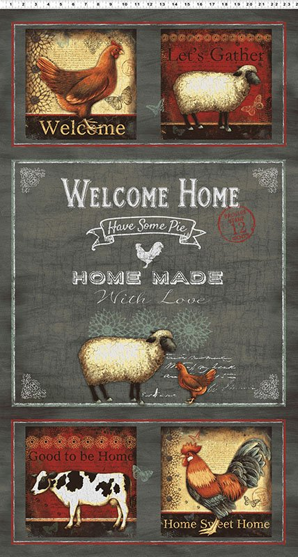 Clothworks - Good To Be Home-Panel - Y2243-7 - A32