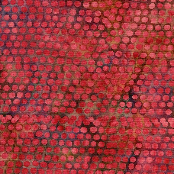 Island Batik Cherry Berry Collection - Dot Magenta