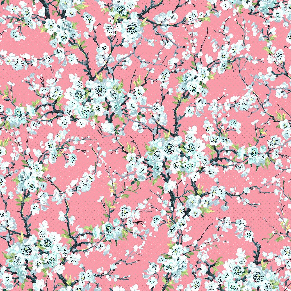 Remnant - 1/2 yd RJR - Serene Spring - First Florish - Blush - 3254-03