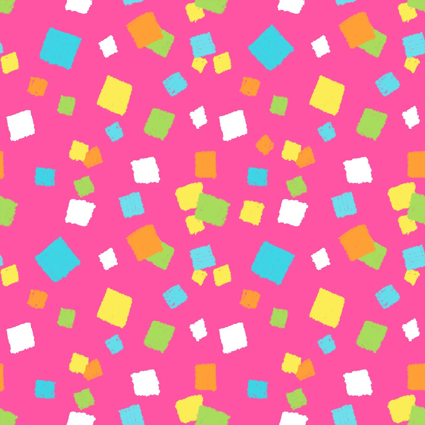 Remnant - 1 yd - Henry Glass - Hop To It - Pink Confetti - 6856-22