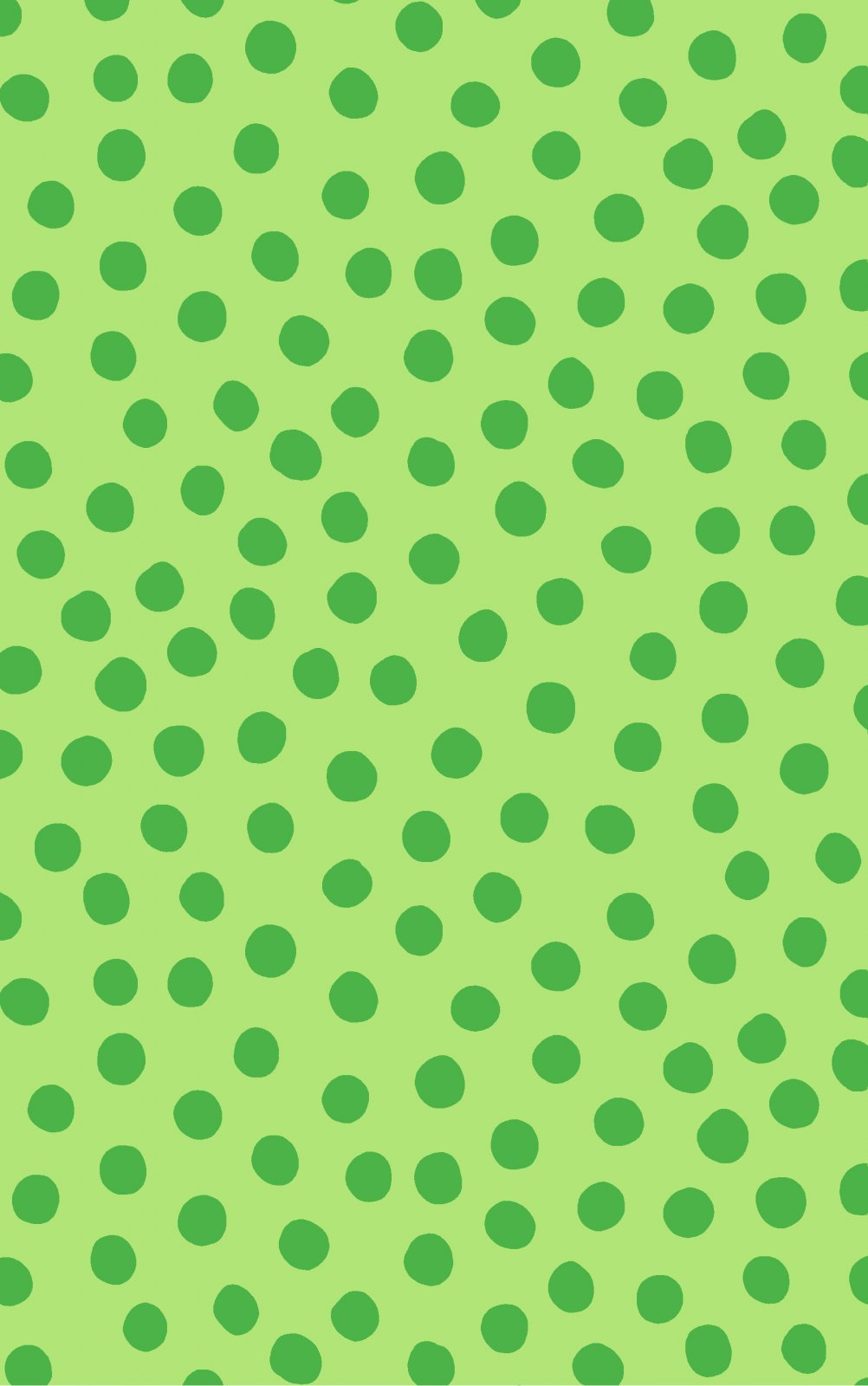Remnant - 1 3/4 yd - Maywood - Green on Green Polka Dots