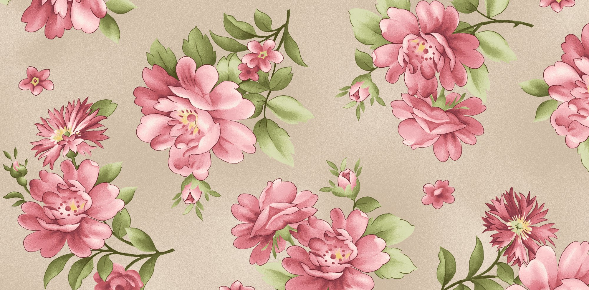 Graceful Moments Large Taupe Floral