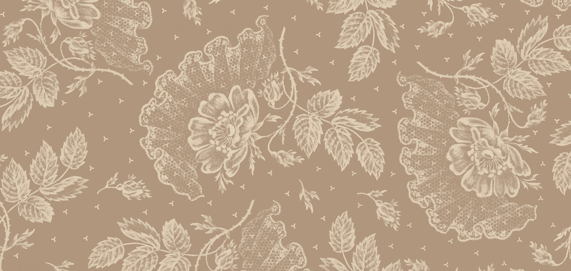 Graceful Moments Taupe Floral Tonal