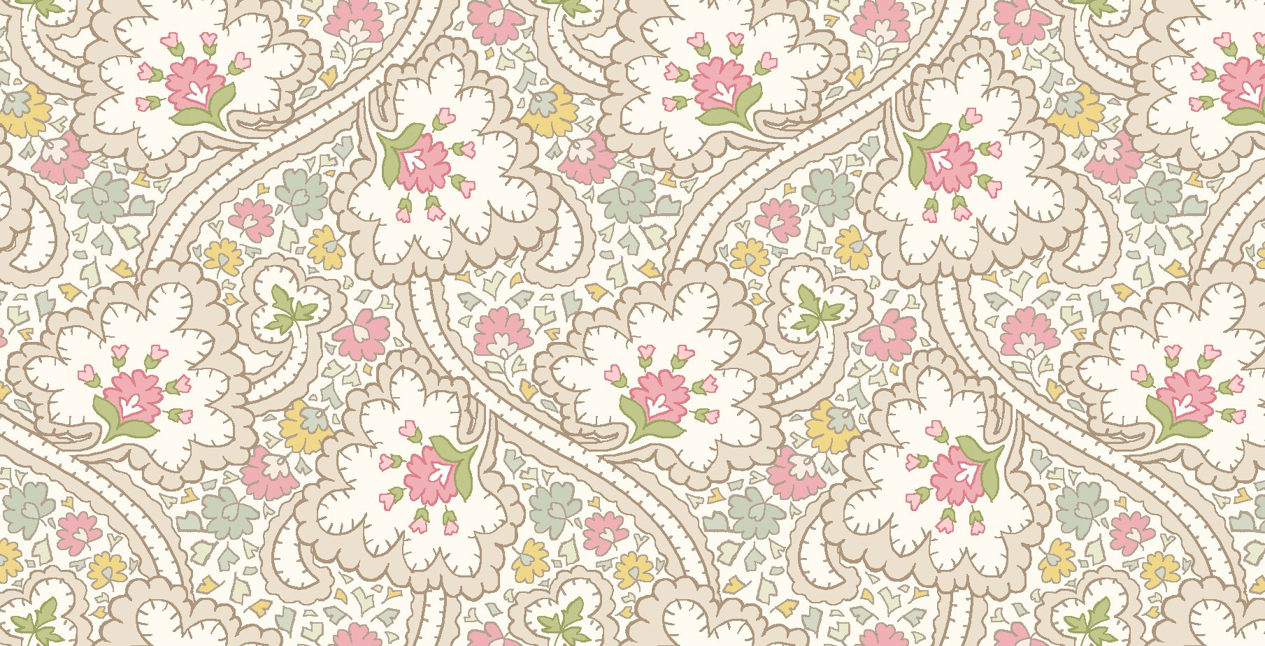 Graceful Moments Small Floral Print on Cream