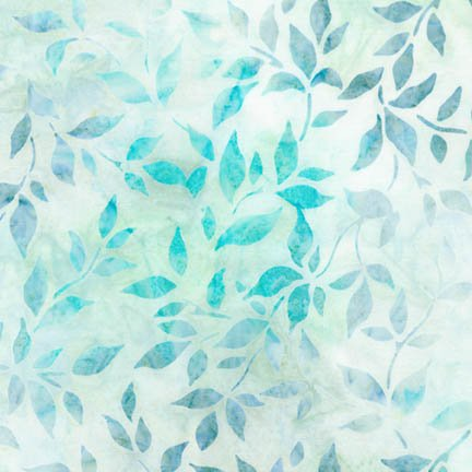 Remnant - 1/2 yard - Robert Kaufman Artisan Batiks Sea Glass Foliage - AMD-16798-333