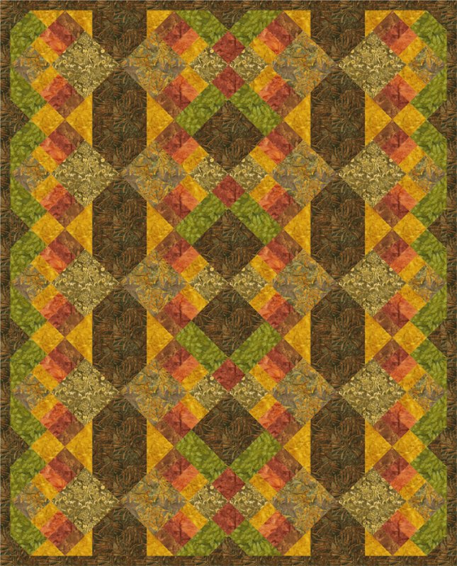 Autumn Tapestry Pattern - 3 sizes