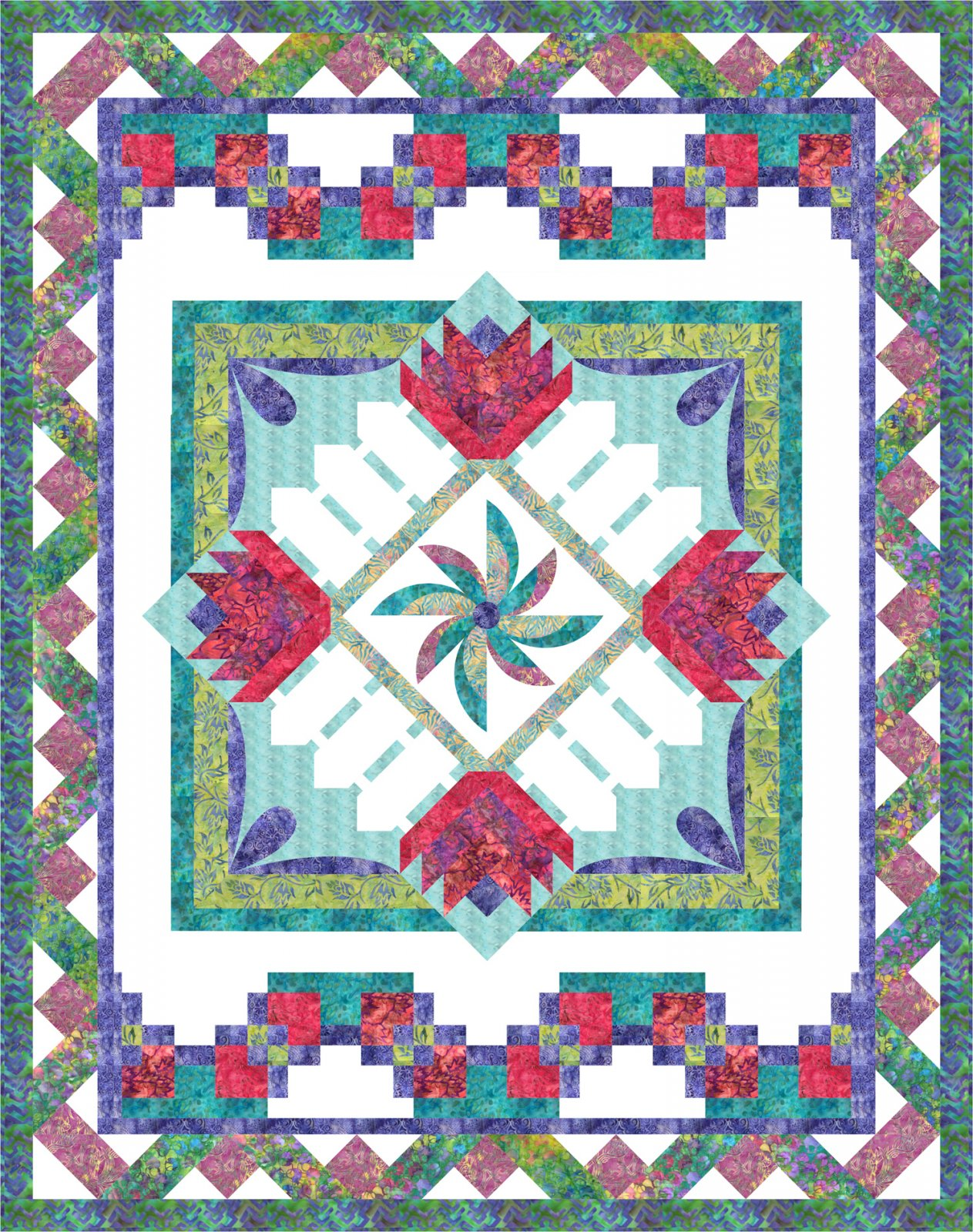 Sale 40% off - Enchanted Arbor Block of the Month - Complete Kit