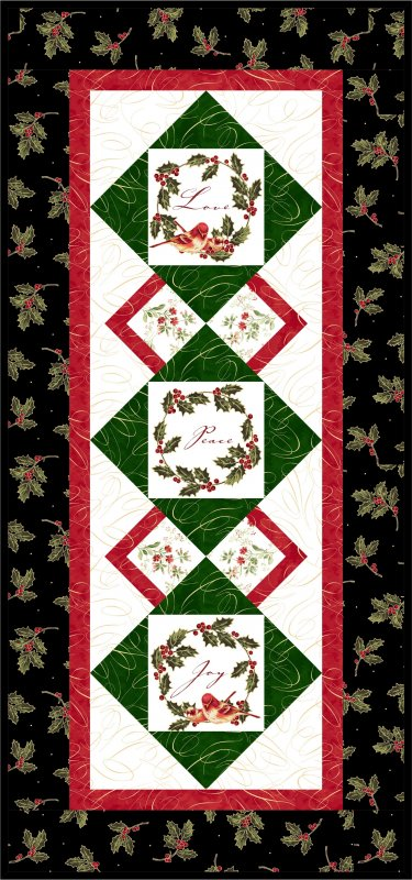 Holiday Twitter Pattern + Bird Panel with 6 Squares