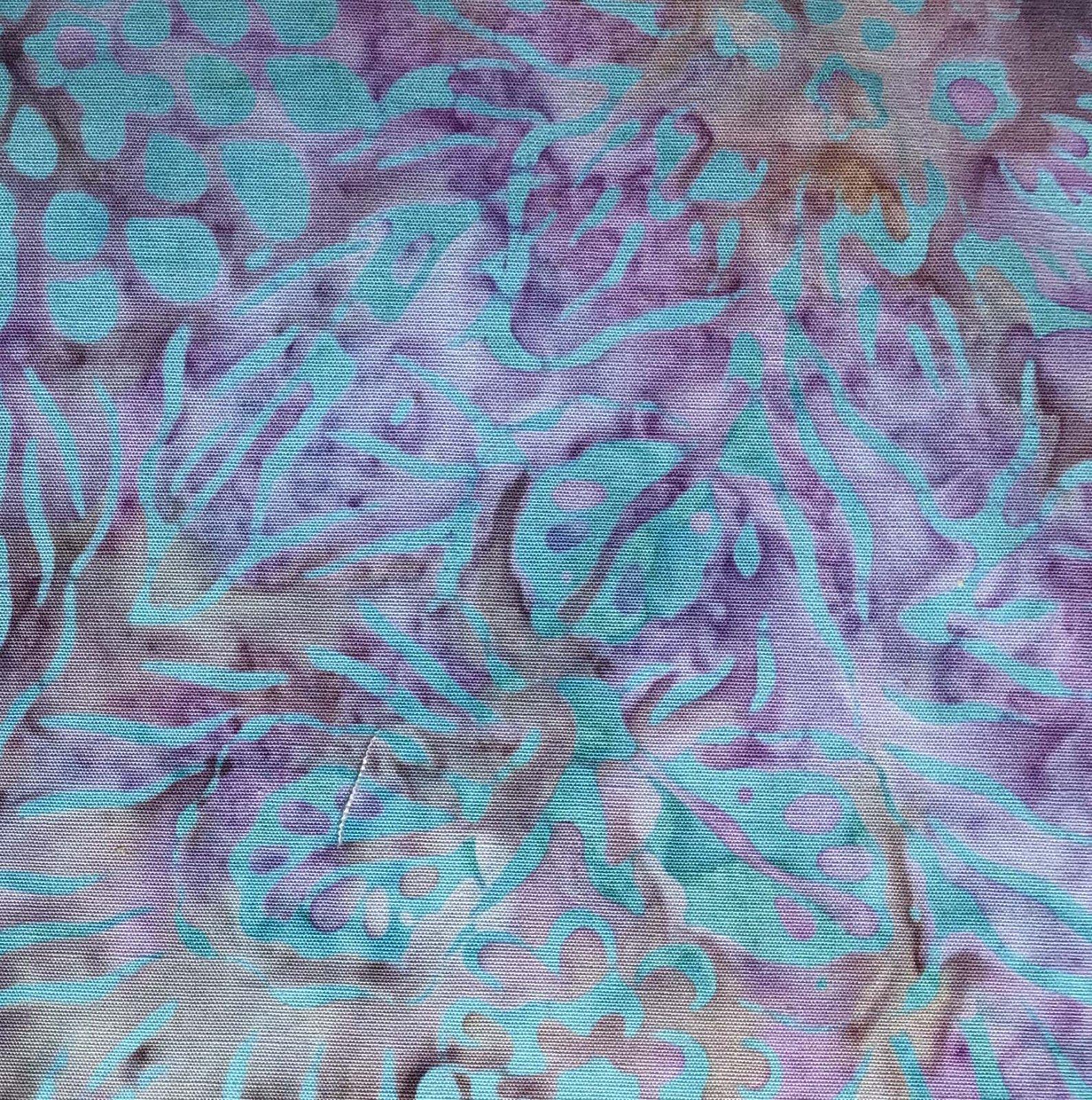 Majestic Batik - Aqua Lilac Batik