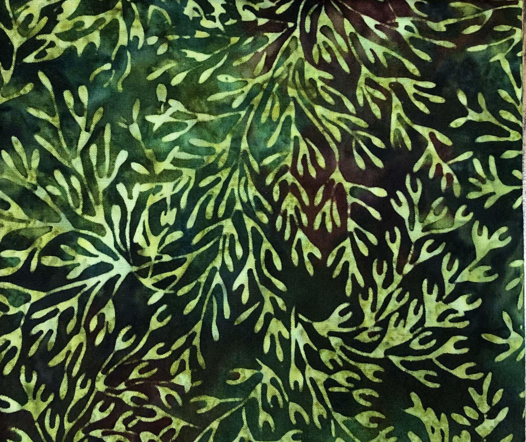 Remnant - 1/2 yd - Hoffman Batik Green Fern (1713)