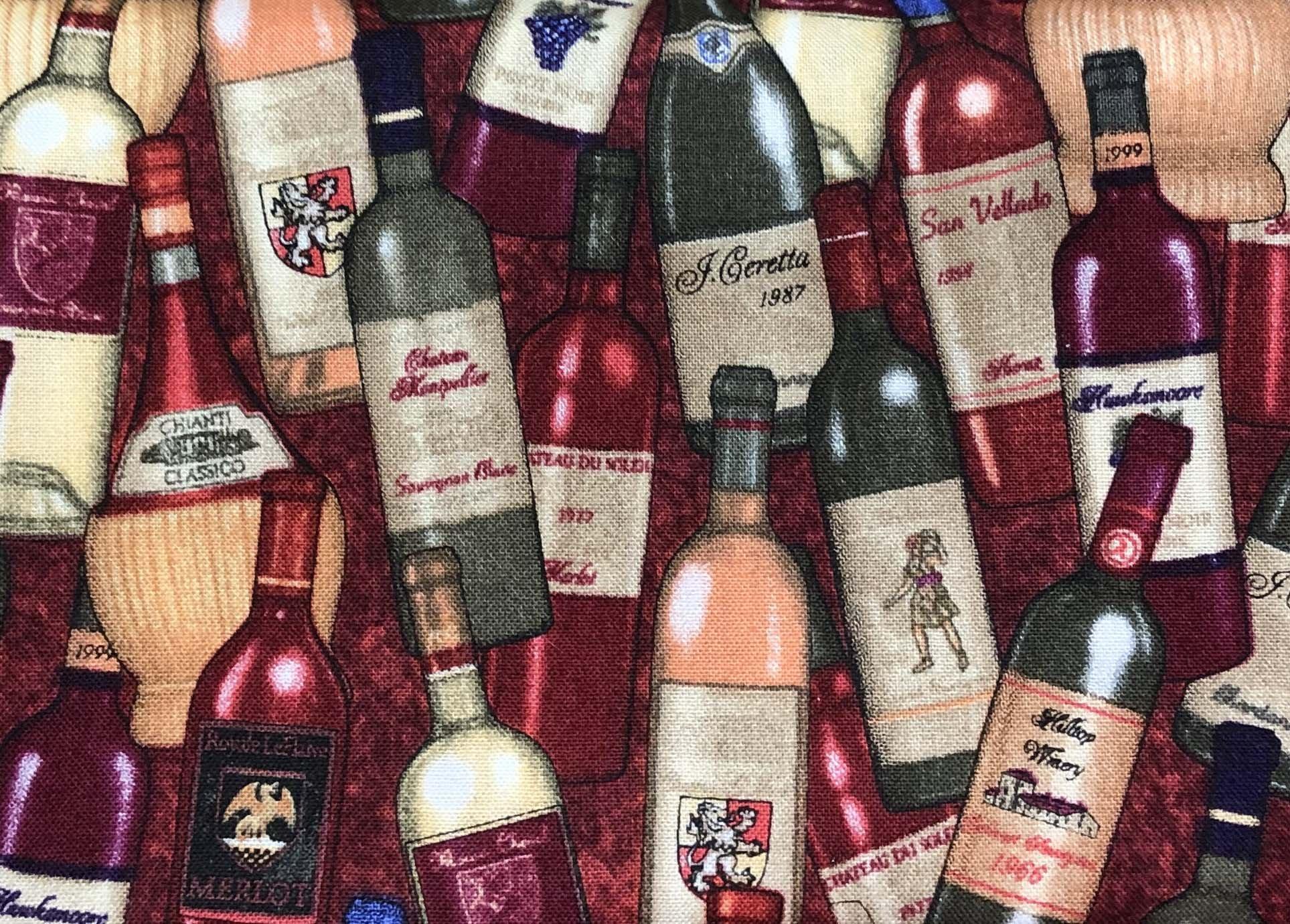 Remnant - 1 yard - RJR WIne Bottles