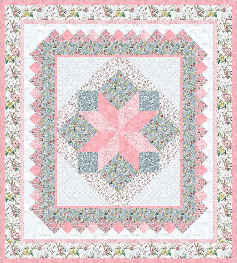 Isabelle Quilt Kit - Pink and Gray