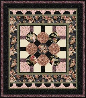 Origami Quilt Pattern - Black Colorway