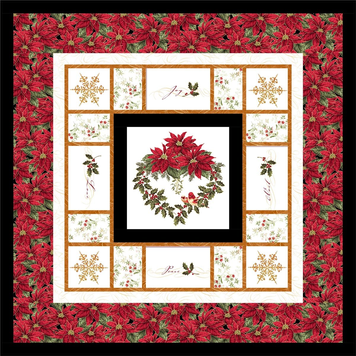 Holiday Blessings Kit - Poinsettia Border