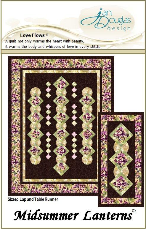 Midsummer Lantern Quilt and Table Runner Pattern