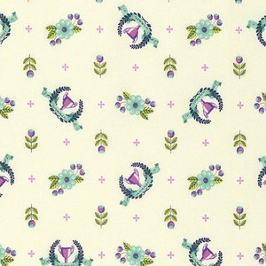 Remnant - 1 yard cut - Slow and Steady Winner's Circle in Blue Raspberry PWT P089 BLUER