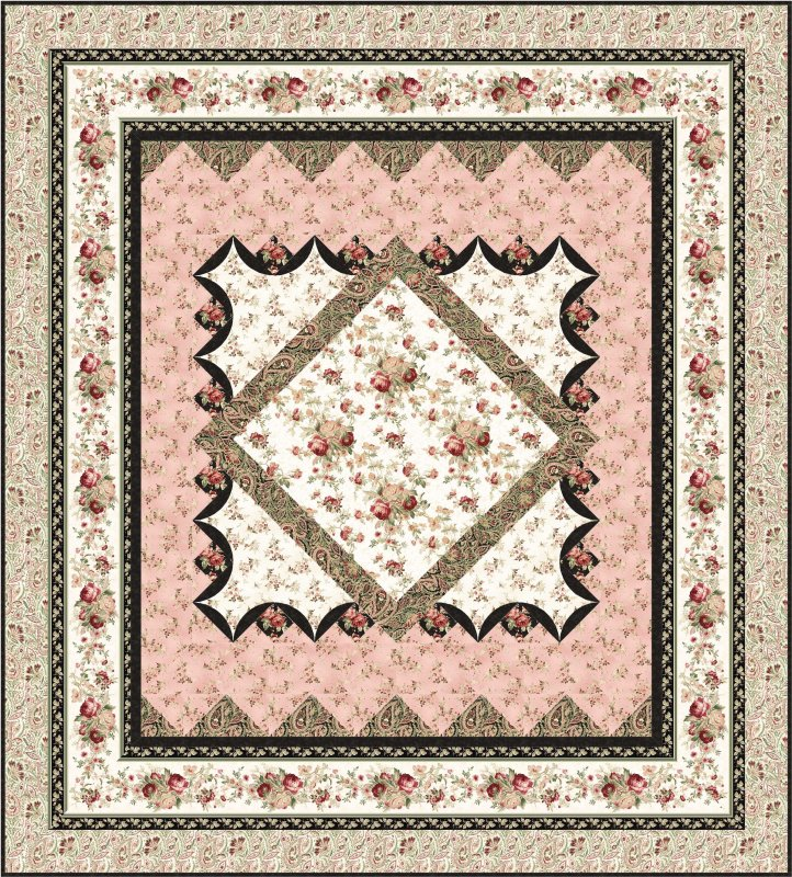 Sanctuary Medallion Bed Quilt Pattern