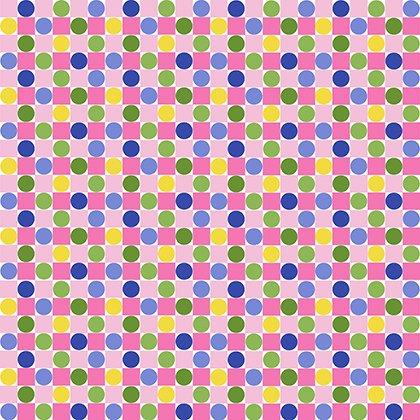 Jane Sassaman Spring Fever Checkerboard - PWJS098.INDIG