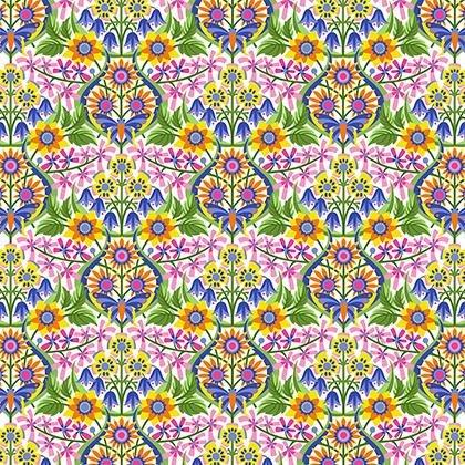 Jane Sassaman Spring Fever Queen of the May - Rainbow - PWJS097.RAINB