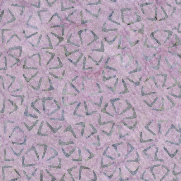 Remnant - 1 yd - Timeless Batik - Tonga B1466-Lilac