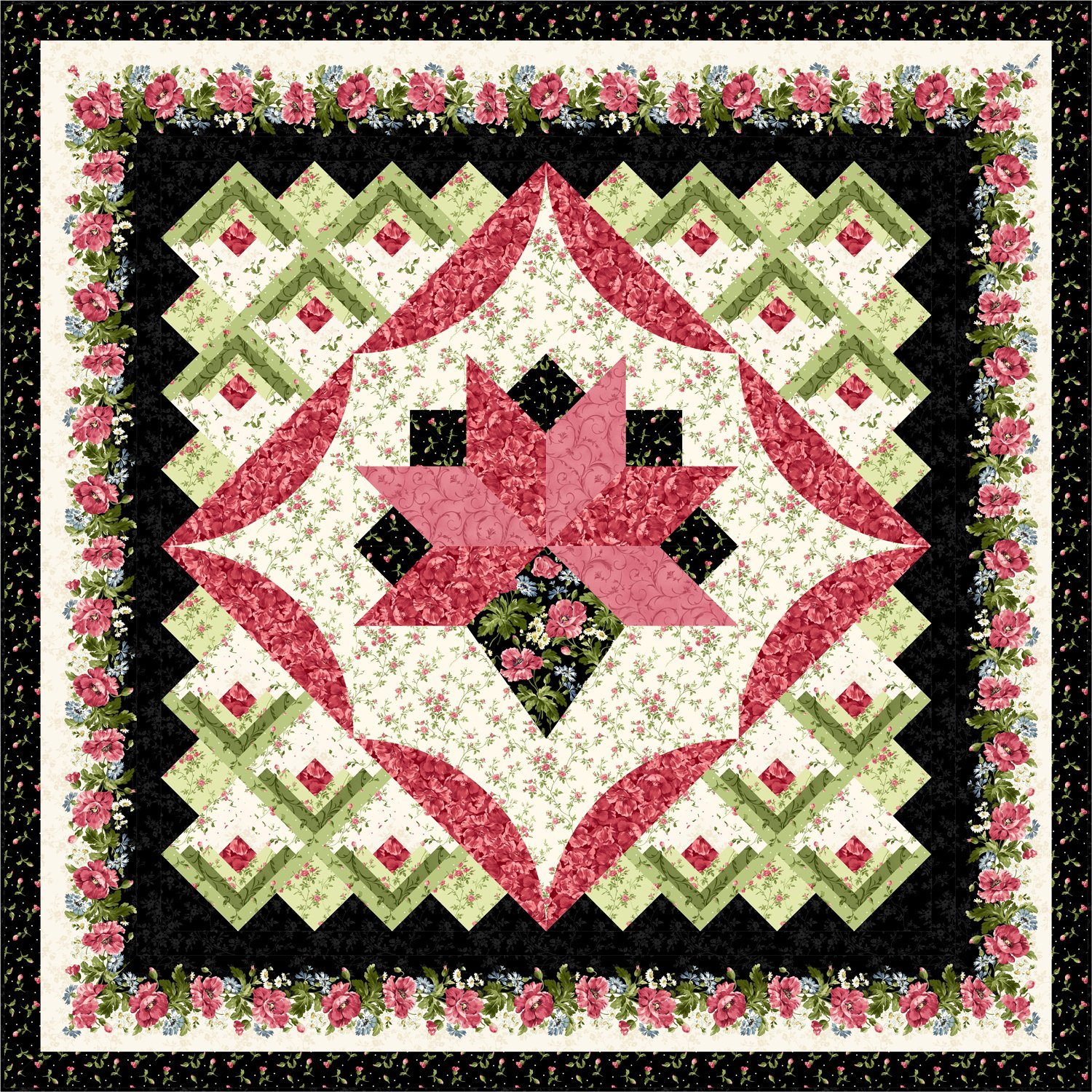 Victorian Romance Quilt Kit - Multiple Sizes
