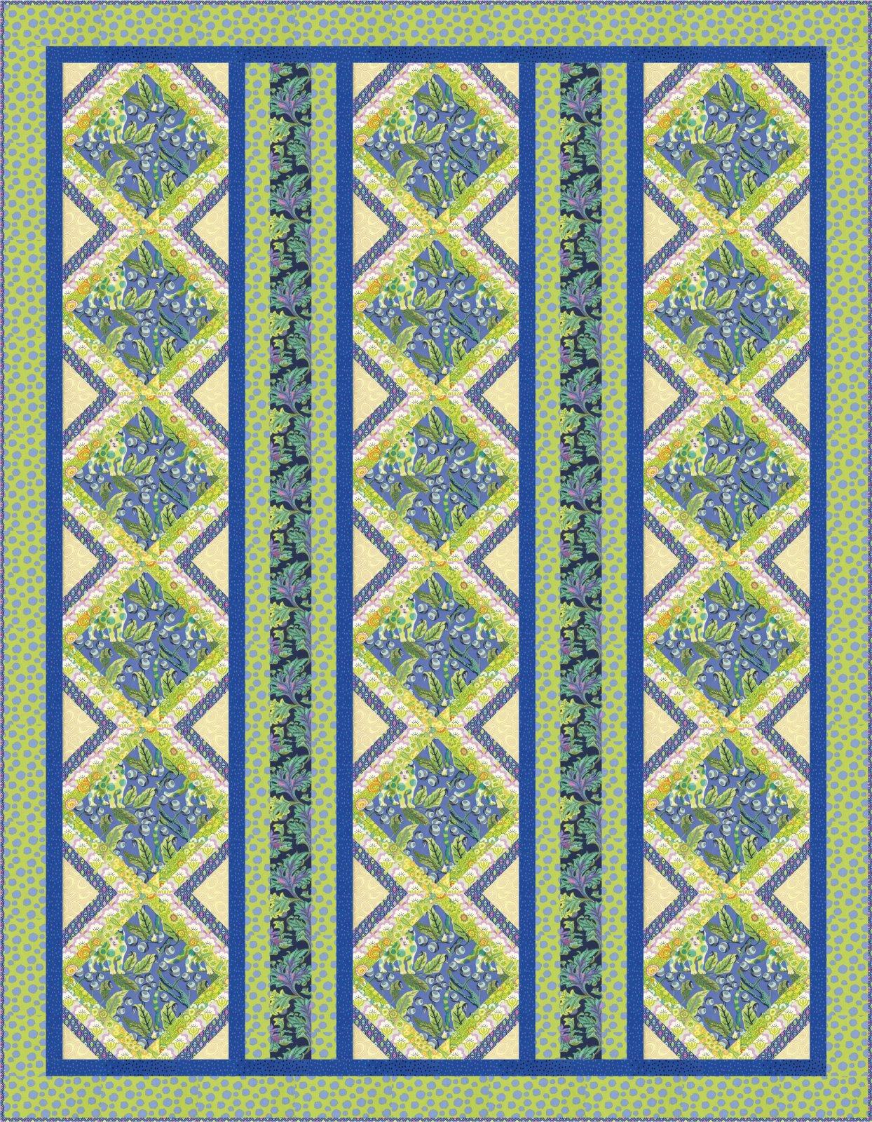 Zazzy Quilt Kit - Tula Tabby Road and Kaffe Fassett Fabrics
