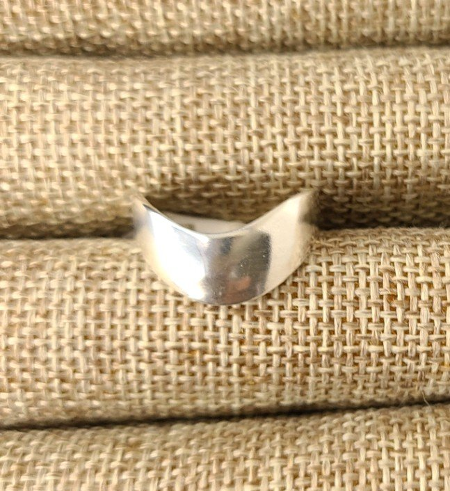 Sterling Silver Thick Contour Thumb Ring