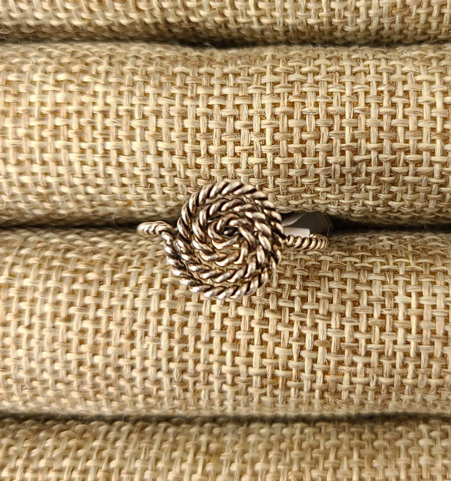 Sterling Silver Roped Swirl