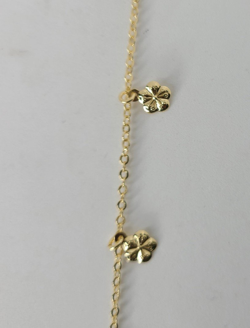 Gold Decorative Anklet - Daisy Charms