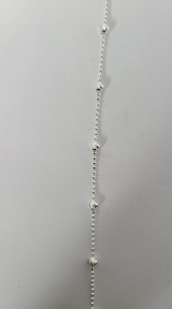 Sterling Silver Beaded Anklets