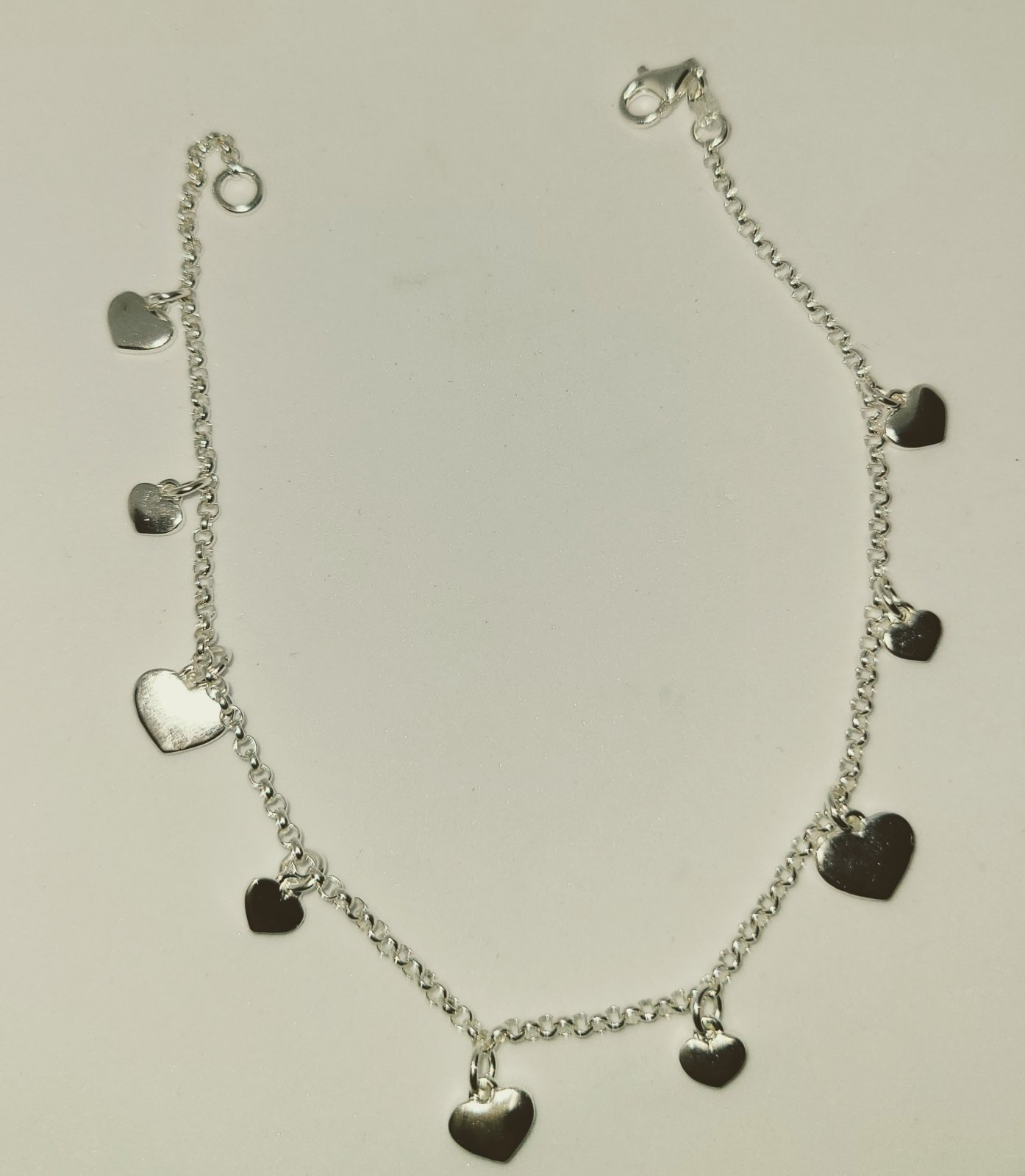 Anklet #2 Hearts Charms