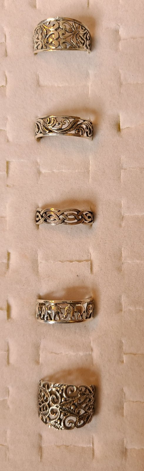 Sterling Silver Size 8 Thumb Ring Selections - copy