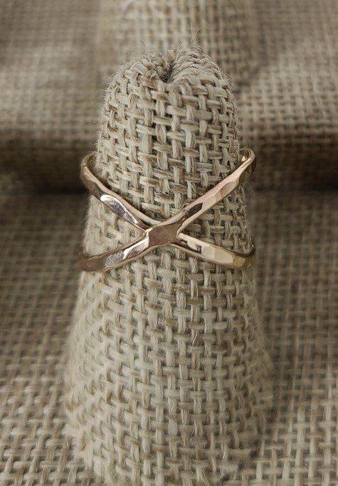Rose Gold Criss Cross