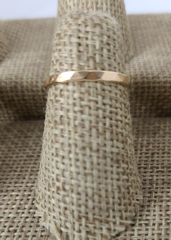 Gold-Fill Thin Hammered Band