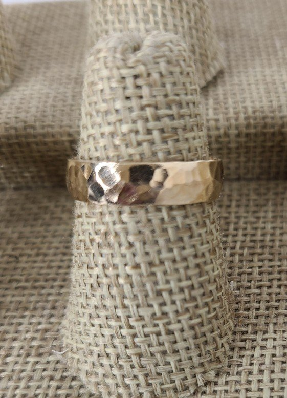 Gold Thick Hammered